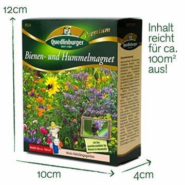 Quedlinburger Hummelmagnet Saatgut für 100 qm Bienenwiese, einjährige Bienen Blumenmischung - 3