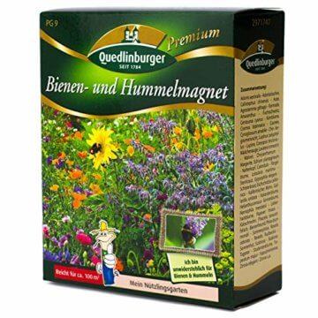 Quedlinburger Hummelmagnet Saatgut für 100 qm Bienenwiese, einjährige Bienen Blumenmischung - 5
