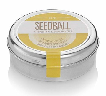 Samenbälle BIENEN MISCHUNG: Eine Wunderschöne Hilfe Für Bienen Durch Wildblumensamen. Ein Tolles Garten Geschenk - 1
